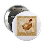 """Golden Hen 2.25"""" Button (10 pack)"""