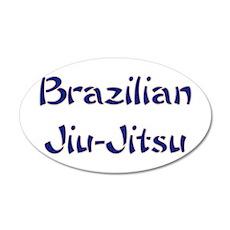 Brazilian Jiu-Jitsu 20x12 Oval Wall Peel