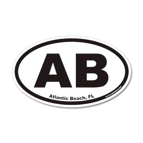 Atlantic Beach Florida AB Euro 35x21 Oval Wall Pee
