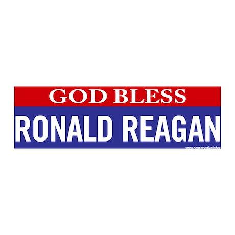 God Bless Ronald Reagan 36x11 Wall Peel