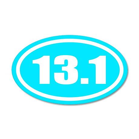 13.1 Half Marathon 35x21 Oval Wall Peel