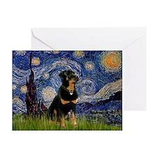 Starry Night & Rottie Greeting Cards (Pk of 10)