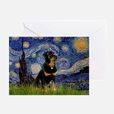 Starry Night & Rottie Greeting Cards (Pk of 10)