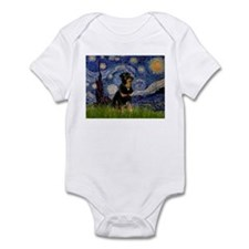 Starry Night & Rottie Infant Bodysuit