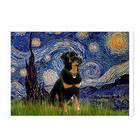 Starry Night & Rottie Postcards (Package of 8)