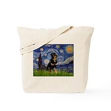 Starry Night & Rottie Tote Bag