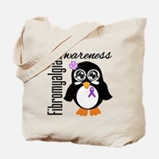 Penguin Fibromyalgia Tote Bag