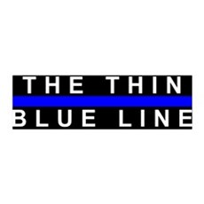 The Thin Blue Line 36x11 Wall Peel
