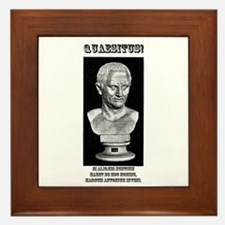 Cicero Wanted (Latin) Framed Tile