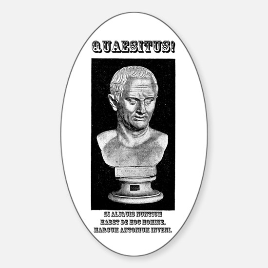 Cicero Wanted (Latin) Sticker (Oval 10 pk)