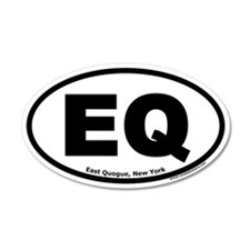 "East Quogue, New York ""EQ"" 20x12 Oval Wall Peel"