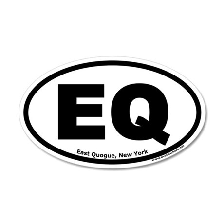 "East Quogue, New York ""EQ"" 35x21 Oval Wall Peel"