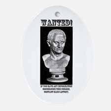 CIcero Wanted (English) Ornament (Oval)