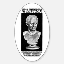 CIcero Wanted (English) Sticker (Oval)