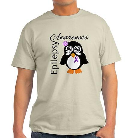 Penguin Epilepsy Awareness Light T-Shirt
