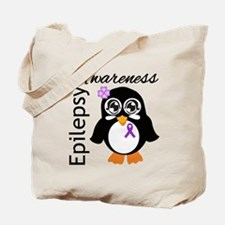 Penguin Epilepsy Awareness Tote Bag