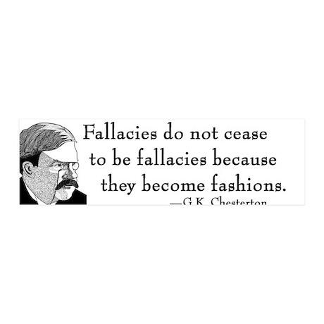 "G.K. Chesterton 36x11 Wall Peel - ""Fallacies"""