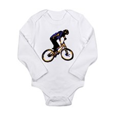 Funny Cheap bike Long Sleeve Infant Bodysuit