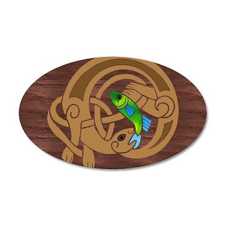 Oval Celtic Otter Sticker