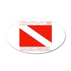 Dive Cozumel 35x21 Oval Wall Peel