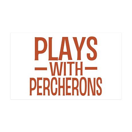 PLAYS Percherons 35x21 Wall Peel