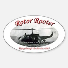 Unique Helicopter Sticker (Oval)