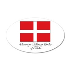 Sovereign Military Order of M 20x12 Oval Wall Peel