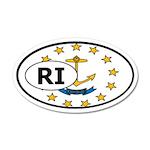 Rhode Island State Flag 35x21 Oval Wall Peel