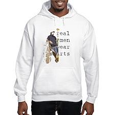 Real men wear skirts Hoodie