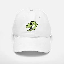 Green T-Rex Dinosaur Skull Baseball Baseball Cap