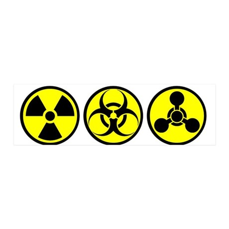 WMD / Chemical Weapons 36x11 Wall Peel