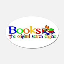 Books The Original Search Engine 20x12 Oval Wall P
