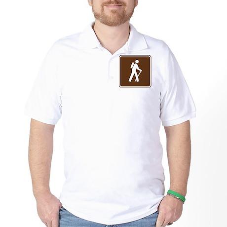 Hiking Trail Sign Golf Shirt