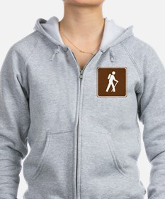 Hiking Trail Sign Zip Hoodie