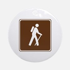 Hiking Trail Sign Ornament (Round)