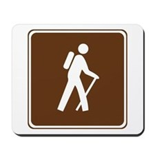 Hiking Trail Sign Mousepad