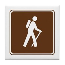 Hiking Trail Sign Tile Coaster