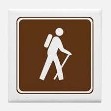 Hiking Trail Sign Tile Coaster