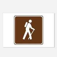 Hiking Trail Sign Postcards (Package of 8)