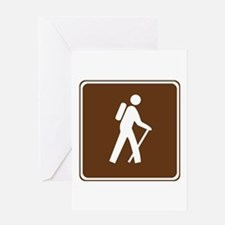 Hiking Trail Sign Greeting Card