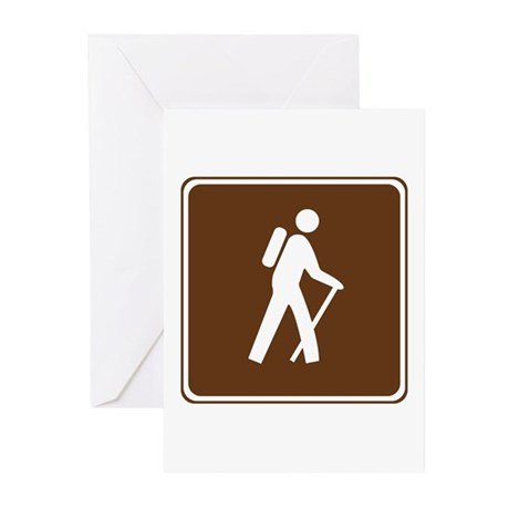 Hiking Trail Sign Greeting Cards (Pk of 20)