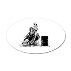 Barrel Racing 20x12 Oval Wall Peel