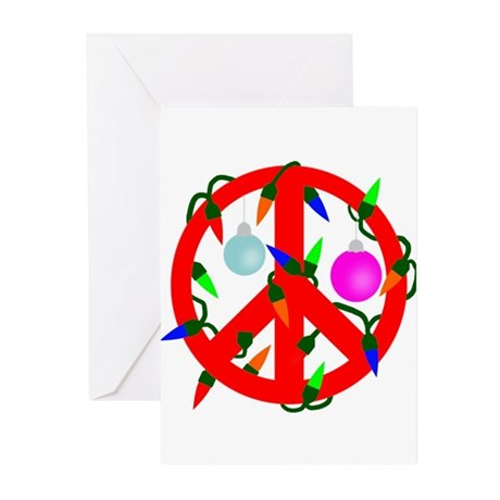 Peace For Christmas Red Greeting Cards (Pk of 20)