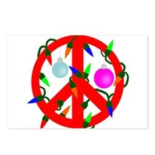 Peace For Christmas Red Postcards (Package of 8)