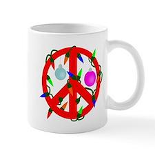 Peace For Christmas Red Mug
