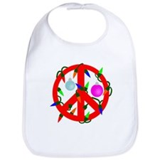 Peace For Christmas Red Bib