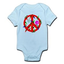 Peace For Christmas Red Infant Bodysuit