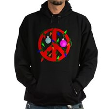 Peace For Christmas Red Hoodie