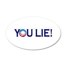 You Lie Obamacare 35x21 Oval Wall Peel