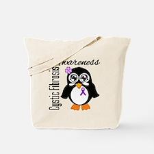 Penguin Cystic Fibrosis Tote Bag